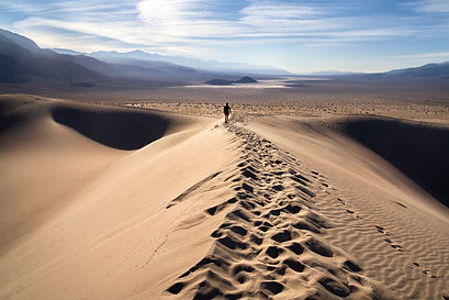 A Morning Walk in the Panamint Dunes