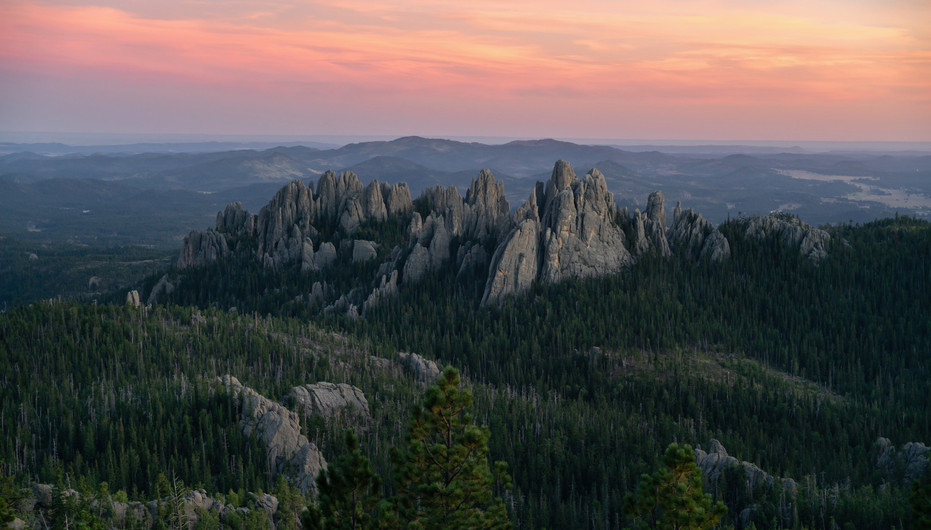 Sunset Over Cathedral Spires