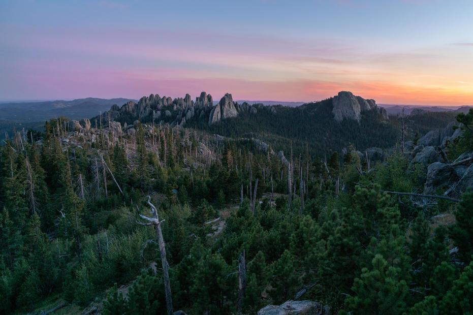 Sunset Over Black Elk Peak