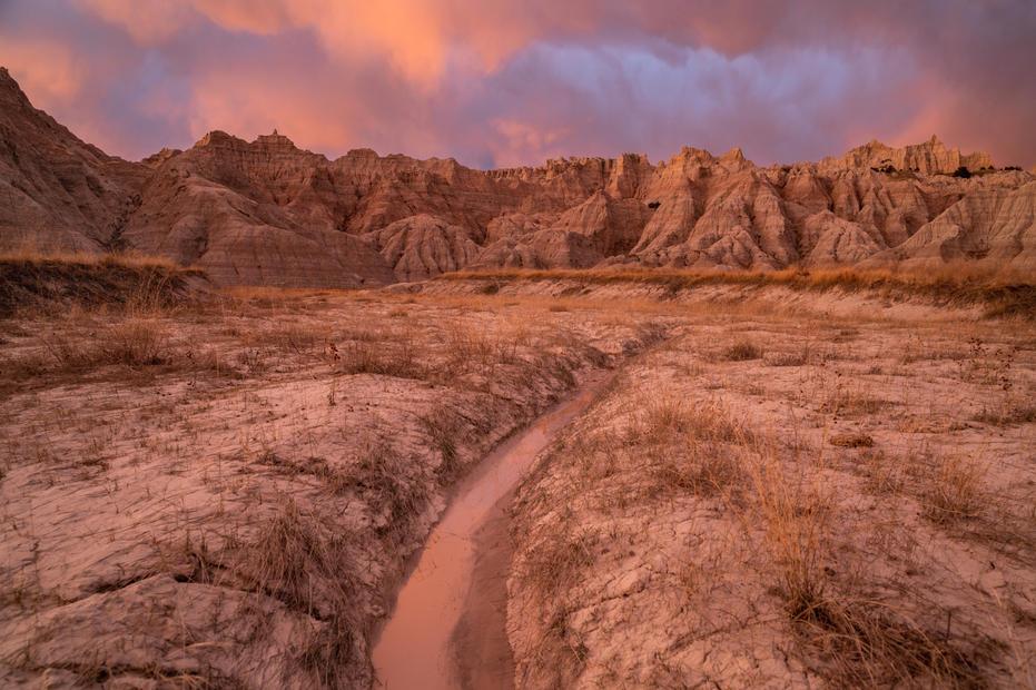 Parting Storms at Sunset, Conata Basin,