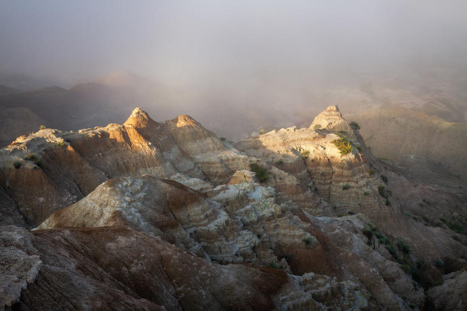 Fogbow in the Badlands
