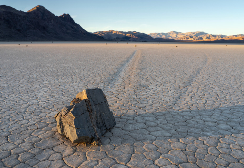 The Sailing Stones at Sunset