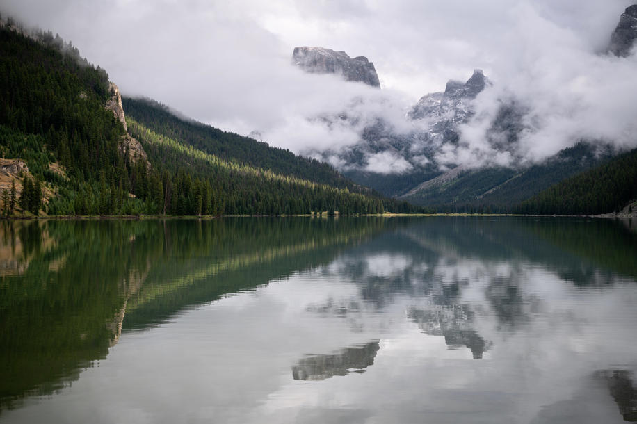 Parting Storms in the Green River Lakes