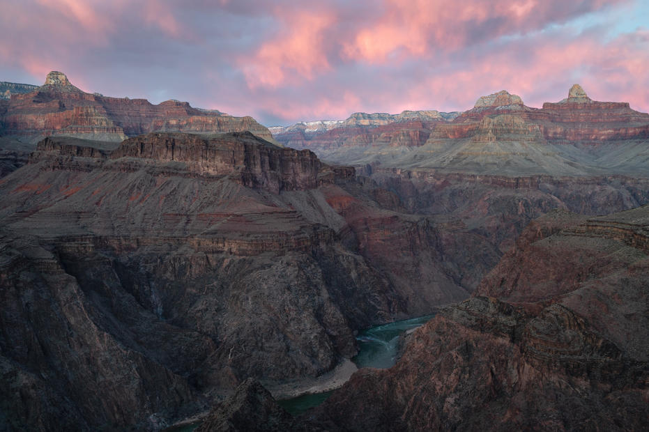 Sunset Looking East From Plateau Point