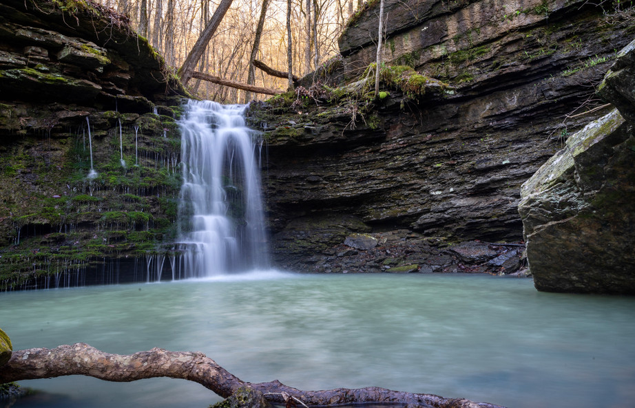 A Waterfall Deep in the Ozark National F