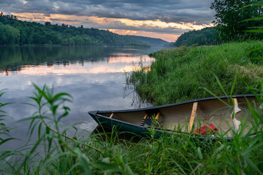 Canoeing on the St Croix River
