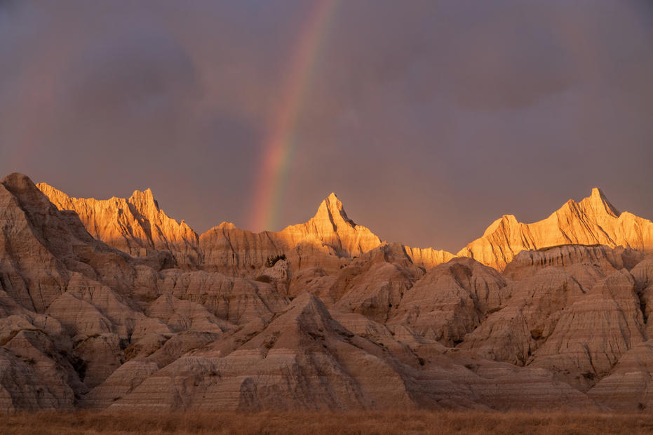 Rainbow in the Badlands
