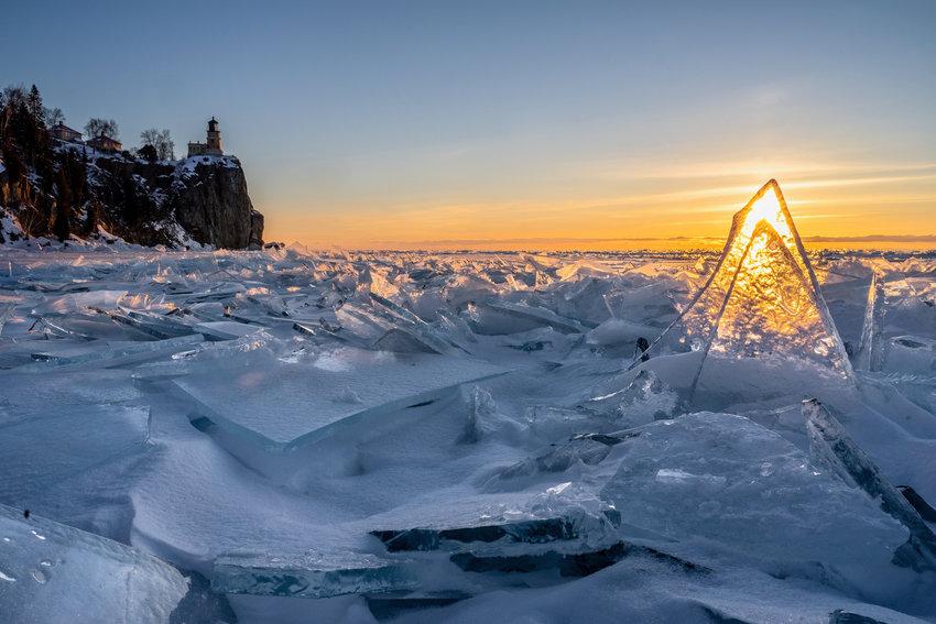 Ice Lantern Below Lake Superior