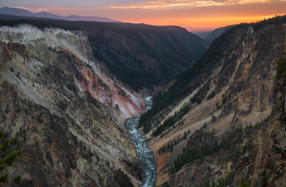 Sunset Over the Grand Canyon of the Yell