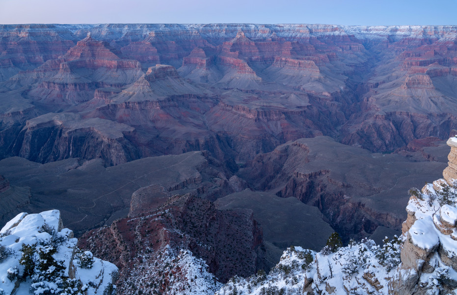 Wintry Blue Hour on the South Rim