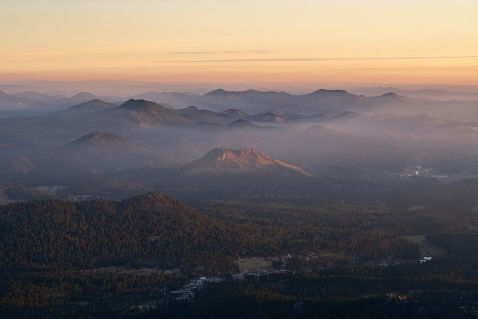 Foggy Sunrise in the Black Elk Wildernes