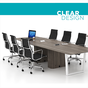 Clear Design commercial office furniture for open plans conference rooms made in the USA