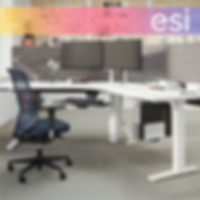 ESI ergonomic solutions and accessories like height adjustable tables monitor arms keyboard trays to make existing commercial office spaces more comfortable and adjustable