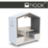 Nook and Nookpod are mobile private meeting rooms with acoustic qualities to create private and quiet spaces in the office and public areas
