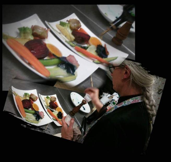 Lo chef Monica Pasin e l'amore per la cucina .