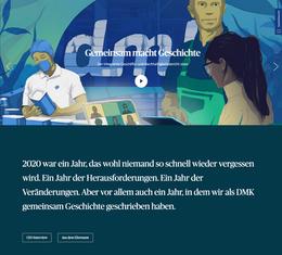 DMK Geschäftsbericht 2020 ∙ Konzept, Text