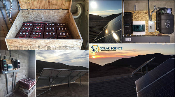 sistema fotovoltaico autonomo, ensenada, solar science