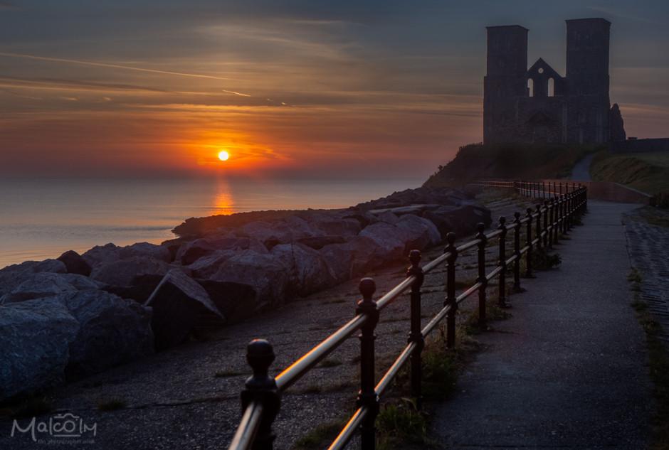Reculver Towers at dawn