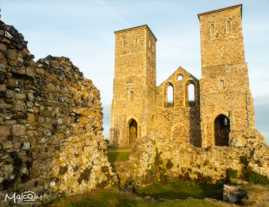 Ruins from Reculver's Church of St Mary