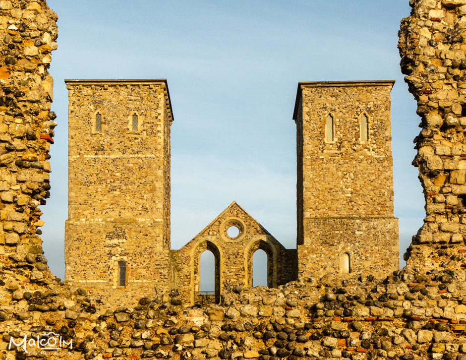"Reculver's ""Two Sisters"" towers"