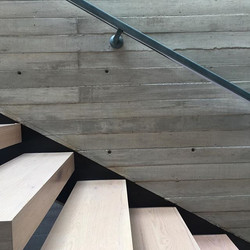 We use #concrete and #wood for this beau