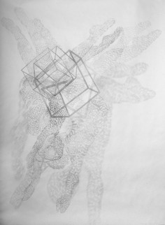 Dancer With Cube Drawing