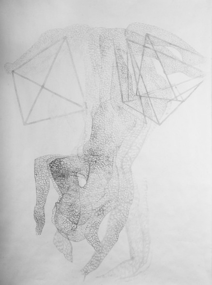 Dancer With Tetrahedron Drawing