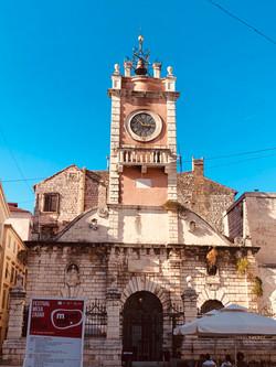 Clock tower in Zadar, Croatia