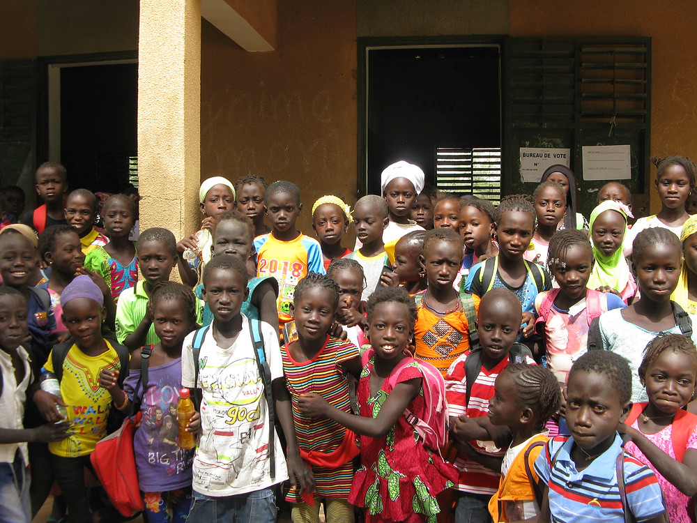 Students of Mbokhadane Primary School. Bambey, Senegal.