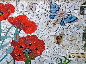 Poppy's Wall by Kim Grant Mosaics