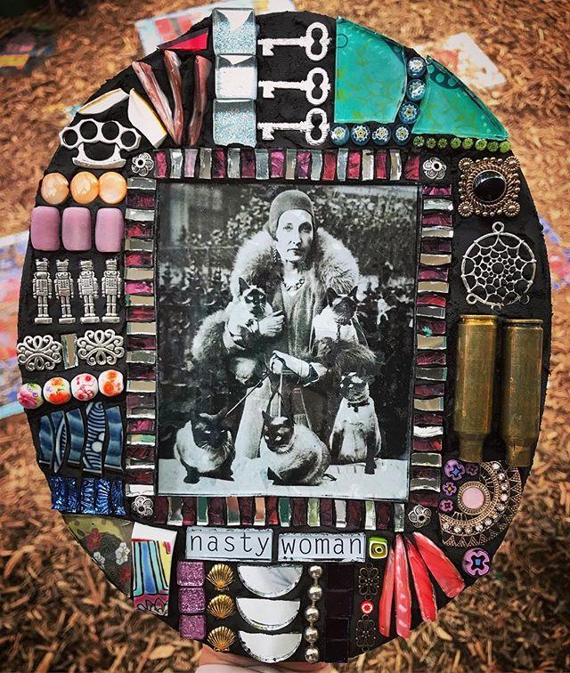 Nasty Woman by Kim Grant Mosaics