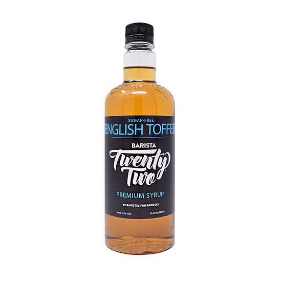 SUGAR-FREE ENGLISH TOFFEE SYRUP 750mL