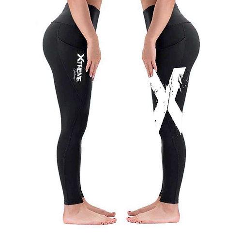 """Xtreme"" Double Sided Leggings - Black/White X"