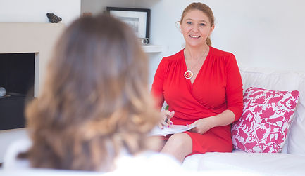 Relationship therapy specialist Helen Rice sees female client in Poole Bournemouth counselling room