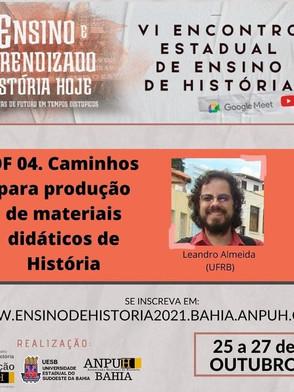 """Inscrições para oficina """" Caminhos para produção de materiais didáticos de História"""""""