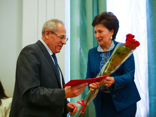 В честь 85-летнего юбилея  СКФУ состоялось награждение членов первичной профсоюзной организации рабо
