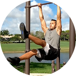 Hanging ab exercise