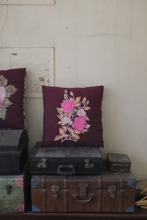 A Cushion With Two Roses