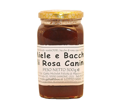 Miele e Bacche di Rosa Canina - 500gr