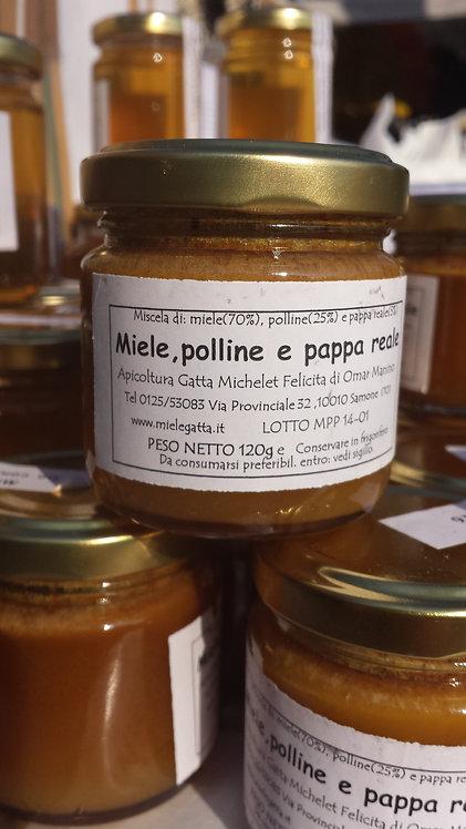 "La ""Bomba"" - MIELE, POLLINE E PAPPA REALE- 120g"