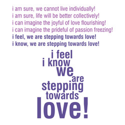 STEPPING TOWARDS Poem Part