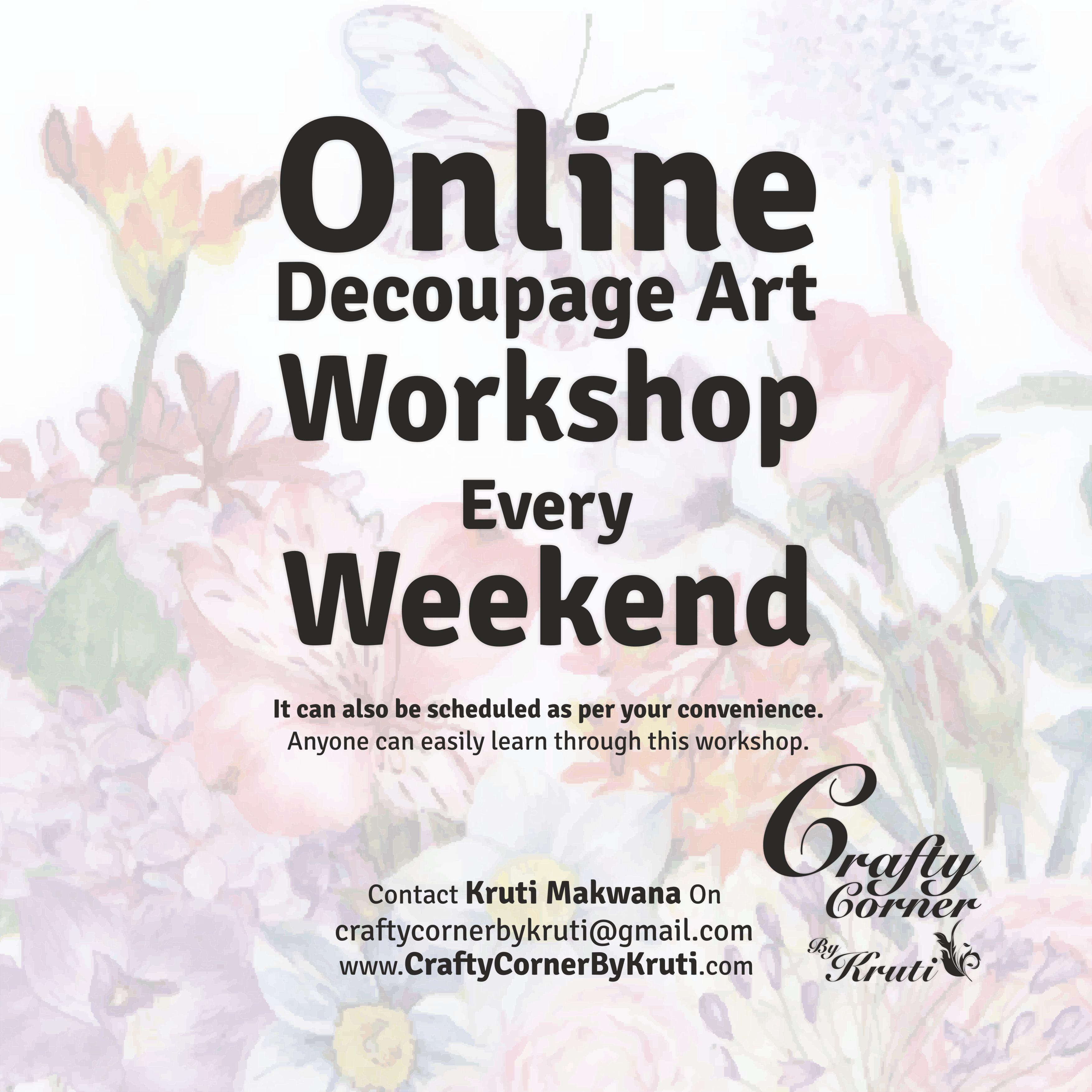 Online Decoupage Art Workshop