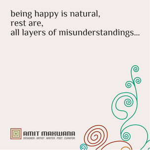 being happy is natural