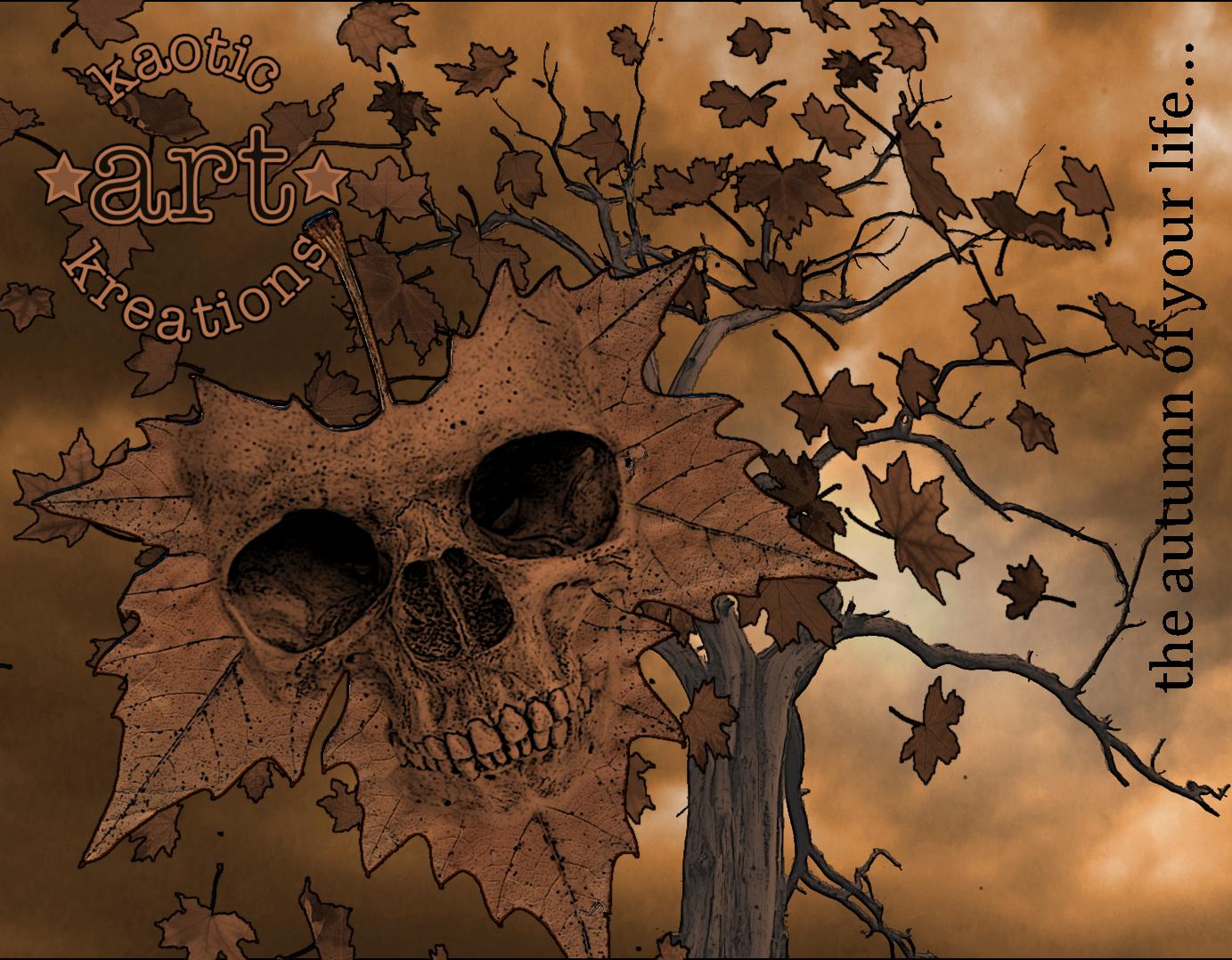 leaf skull
