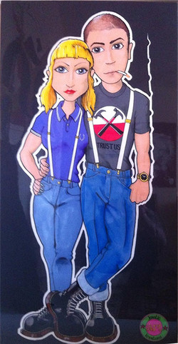 skinhead couple