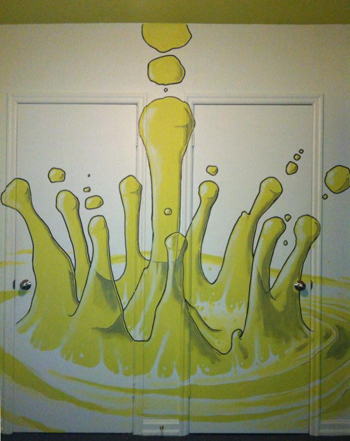 dripping mural