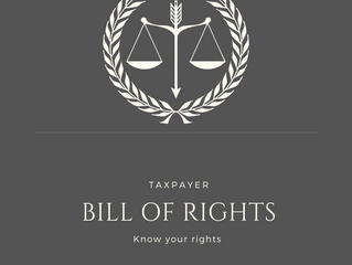 Did you know that there is a Taxpayer Bill of Rights?