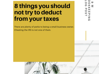8 Things You Should Not Try to Deduct from Your Taxes