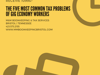 The Five Most Common Tax Issues with Gig Economy Workers
