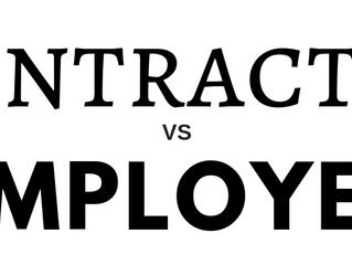 Why does it matter if you are an employee or a contractor?